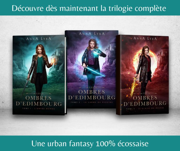 Trilogie Les Ombres d'Edimbourg Anna Lyra